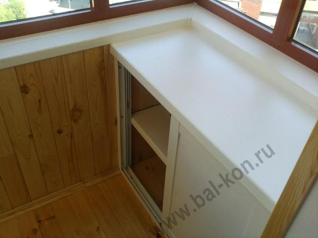 Шкафчик на балкон из пластика.
